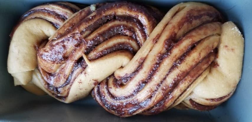 בצק עוגה לאחר תפיחה